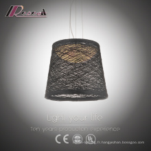 Black Ratan Dining Room Pendant Light Prix favorable