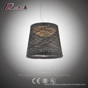 Black Ratan Dining Room Pendant Light Favourable Price