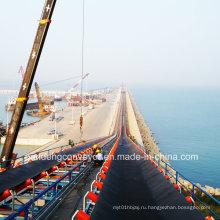 Большим углом наклона ленточный конвейер / конвейерная система для Морской порт/Гавань