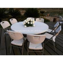 Mesa plástica redonda plegable, tabla usada de la boda