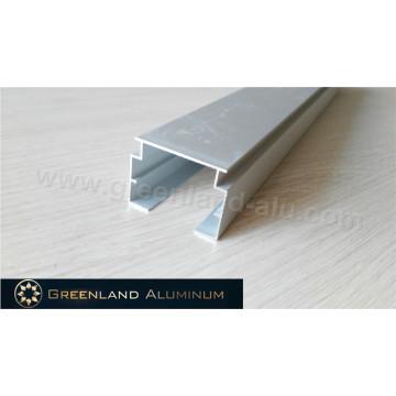 Riel de aluminio para cabezal vertical ciego plateado anodizado transparente grueso y estable