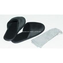 Black Hotel Plush Slippers (DCS-9101)