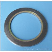 Joint de plaie spirale avec bague intérieure en acier au carbone