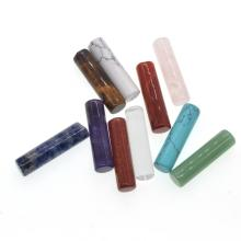 Natural 10x18MM Semi Precious Stone Cylinder Beads