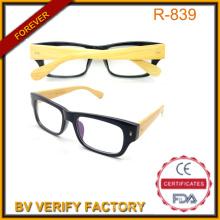 Gafas de sol de brazo de bambú con marco negro de la PC China fuente