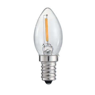 UL C7 120V E12s Dimmable 2200k 90ra Filament Candle Bulb