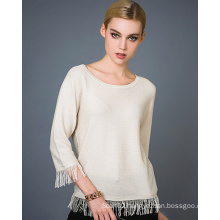 Lady′s Cashmere Blend Fashion Sweater 17brpv122
