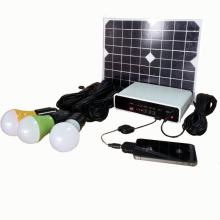 DC solar lighting system with 3 pcs led bulbs