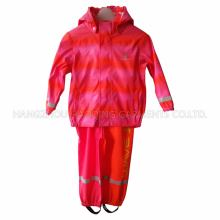 Stripe PU Raincoat for Children
