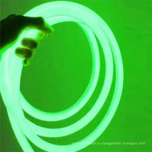 открытый крытый украшения 120В 360 градусов smd2835 круглый светодиодный Неон гибкого трубопровода СИД неоновый свет веревочки