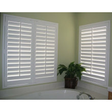 2015 (CE)High quality wood hidden push rod window shutter blinds /plantation shutters from china