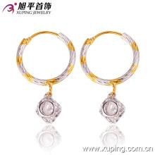 26860 Mode Fantaisie Femmes CZ Diamant Multicolore Imitation Bijoux Boucle D'oreille avec Cerceau Eardrop