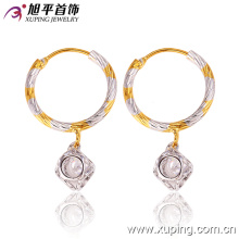 26860 Fashion Fancy Women CZ Diamond Multicolor Imitation Jewelry Earring with Hoop Eardrop
