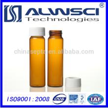 40ml bernsteinfarbenes Glas EPA VOA Vorversiegelte Durchstechflasche mit Telfon gefütterten Septen, 72 Stück / Koffer