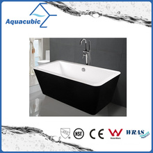 Black Surround Square Free-Standing Acrylic Bathtub (AB1514B)
