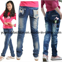 Long Pants for Grils, Childrens Denim Jeans, Long Trousers for Kids