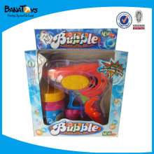 Summer plastic mini toy bubble gun for kid