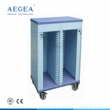 AG-CHT005 Two rows ABS material hospital records holder mobile patient file trolley