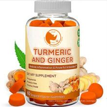 High Potency Anti-Inflammatory Turmeric Gummies Curcumin with Ginger  Bioperine CBD For Maximum Pain Relief