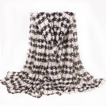 Women′s Coconut Tree Printing Super Soft Woven Shawl Scaf (SW135)