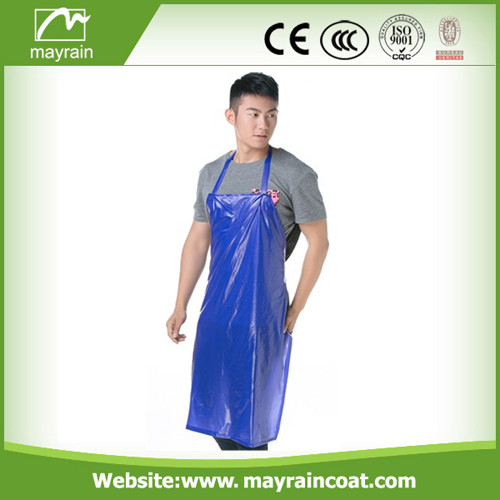 Blue Color PVC Apron