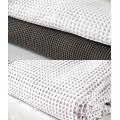 3PCS Waffle Cotton Duvet Cover Set, roupa de cama