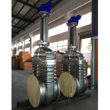 Válvula guilhotina de aço inoxidável API 600