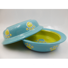 Cuenco de cerámica para gatos con patas