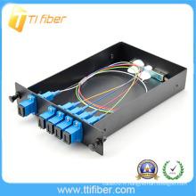 LGX PLC 1/4 Splitter SC / UPC pour FTTX et équipement d'essai