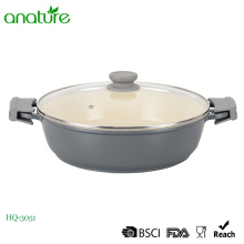 Die Cast Aluminum Low Sauce Pot With Earcap