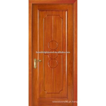 Honeay trigo Paited Single entalhar madeira projeto da porta, porta Interior do Hotel