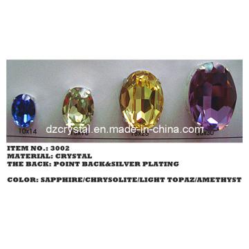 Punto detrás cristal Oval forma (3002)