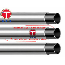 GB/T18704 Q195 Q235 12Cr18Ni9 Stainless Steel Clad Pipes for Structural Purposes