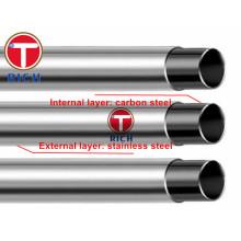 GB / T18704 Q195 Q235 12Cr18Ni9 Edelstahl plattierte Rohre für strukturelle Zwecke