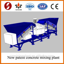 Planta plana de 20-25m3 / h planta de mezcla de hormigón móvil, planta de hormigón de mezcla. planta de hormigón