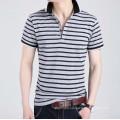 Three Colors Stripe Fashion Cotton Hot Wholesale Top Quality Men Polo T Shirt