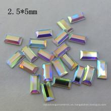 Diamante cristalino del hotfix del rectángulo de 2.5 * 5m m Rhinestone para la venta al por mayor