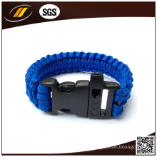 Outdoor Survival 7 Strands 550 Paracord Bracelet with Flint Fire Start and Whistle