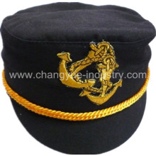 Promotion stock cotton captain sailor cap hat