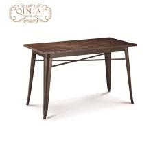 vente en gros de meubles de restaurant rectangle en bois design de mode de table à manger