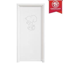 Portes simples en bois et laminé, portes en bois recyclé MDF en bois
