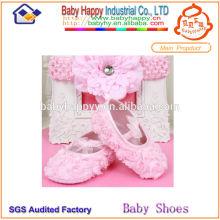 China Wholesale Rosette weiche alleinige Babyschuhe
