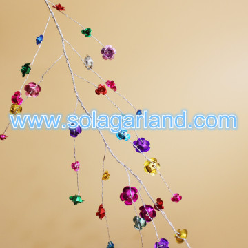 Aluminum Rose Flower Beads Garland Wire Branch