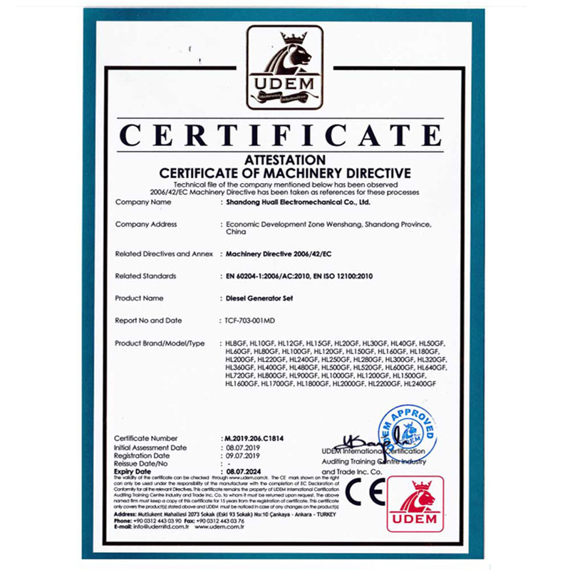 CE diesel generator set