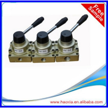 4 way pneumatic hand operated control valve 1/4""
