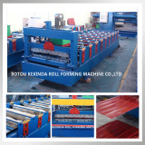 Full automatic metal corrugated metal tile roll forming machine price from China with CE&ISO