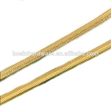 Fashion High Quality Metal Gold Flat Snake Chain