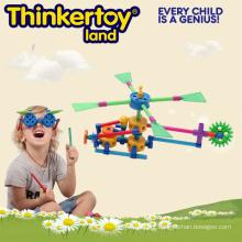 Brinquedo educativo interessante do helicóptero do miúdo