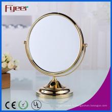 Miroir de maquillage or rond moderne de Fyeer (M5048G)