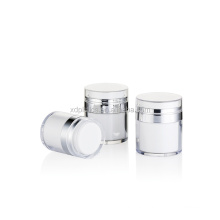 Hot sell 30g 50g straight round airless cream jar airless pump bottle cosmetic bottle skin care packaging